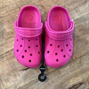 Toddler fuchsia CROCS Ralen Clogs